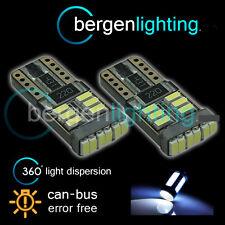 2X W5W T10 501 CANBUS ERROR FREE BIANCO 18 SMD LAMPADINE LED PER TARGA NP103901