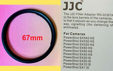 ADAPTER RING to CANON POWERSHOT SX40 SX30 SX20 SX10 SX1 IS 67mm
