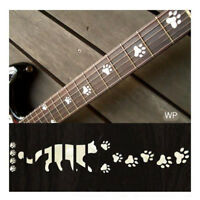 F-019CF-WT  Inlay Stickers,  Cats Foot Print Fret Markers
