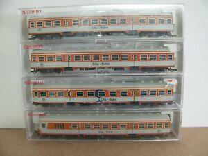 Fleischmann Wagen-Set CITYBAHN, 5123, 5124, 2x 5125 der DB.