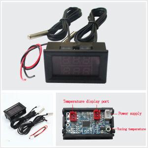 Durable Dual Digital Intercooler Supercharger Temperature Gauge Sensor DC 4-28V