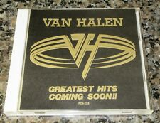 VAN HALEN Japan PROMO ONLY CD 14 tracks GREATEST HITS COMING SOON official