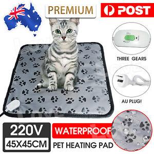 20W Electric Pet Heat Mat Heated Pad Dog Cat Heating Blanket Bed Waterproof