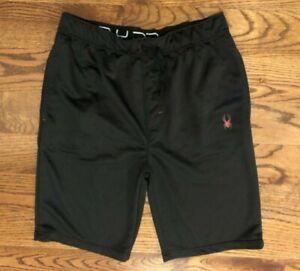 Spyder Athletic Basketball Shorts Men's Large Black Color 10.5 Inch Inseam