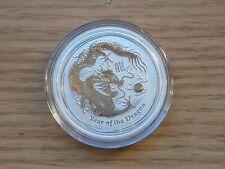 2012 Australian Lunar Year of the Dragon 1/2 oz Silver Coin