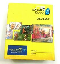 Rosetta Stone LEARN GERMAN LEVEL 1 CD SET + DIGITAL DOWNLOAD + HEADSET,V4
