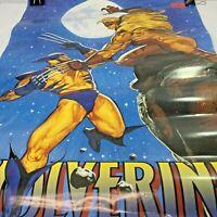 Vintage Wolverine vs Sabretooth Poster Marvel Comics 1994 Wall Hager