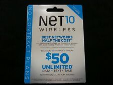 New Sealed Net10 At&T Compatible Sim Card Cellphone Full Size Can Be Cut To Mini
