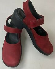 Ecco Women Shoe Clog Strap Back Red Leather Low Heel Comfort Mule EU 36 5.5-6 US