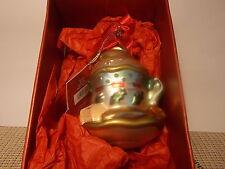 Lenox Crystal  Tea Party Yuletide Treasures  Glass Ornament Teacup