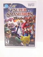 Super Smash Bros. Brawl (Wii, 2008) Game, Case & Manual Tested Fast Shipping!