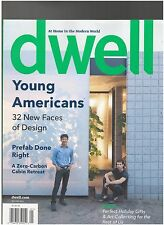 "DWELL MAGAZINE DEC/JAN 2011  ""YOUNG AMERICANS"" 32 NEW FACES -NEW&UNREAD"