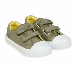 MOTHERCARE Boys Dinosaur Trainers Summer Canvas Touch Strap Skater Shoes NEW