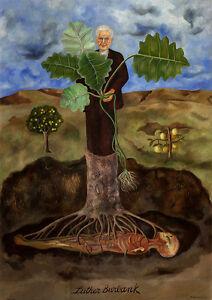 Frida Kahlo canvas Portrait of Luther Burbank print giclee 8X12&12X17