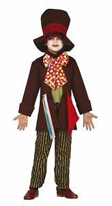 Boys Crazy Tailor Mad Hatter Fancy Dress Costume Book Day Outfit