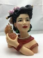 "Cameo Girls Deluxe Lady Head Vase Emma 1946 ""Eau De Lovely"" COA Limited Edition"