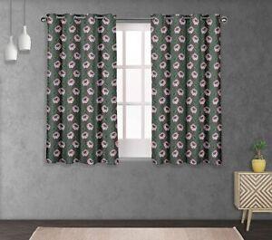S4sassy Leaves & Anemone Home Decor short & long Curtain Eyelet Panel-FL-690D