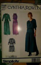 CYNTHIA ROWLEY MISSES DRESS PATTERN 1939 SIZE 14-22
