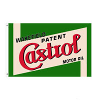 WAKEFIELD CASTROL PATENT MOTOR OIL FLAG 5FT X 3FT QUALITY FREE DELIVERY