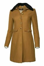Burberry Lanceleigh Military Coat Mustard UK 6 USA 4 IT 38 GER 32 Shearling