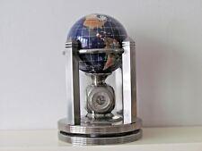 Termómetro de globo de rotación hecho a mano de piedras preciosas, relojes de 2, termómetro, Hidrómetro.