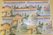 Euro KMS Deutschland 2004 PP Postausgabe (A,D,F,G,J) mit allen Briefmarken 2004