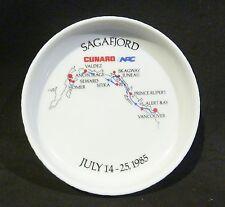ROSENTHAL CUNARD SAGAFJORD PIN DISH 1991 SOUVENIR