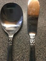 "Vintage National Stainless Flatware ""Olaf""  Silverware Sugar Spoon Butter Knife"