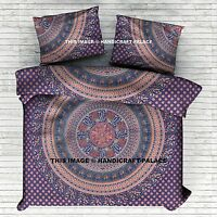 Indian Mandala Cotton Donna Cover Ethnic Duvet Queen Size Bedding Boho Quilt Set