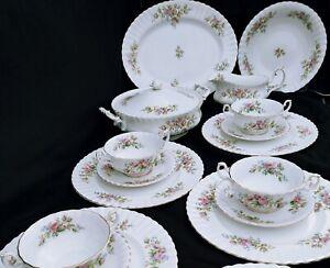 Royal Albert Moss Rose Speiseservice 6 Person vollständig DiningService 6 Person