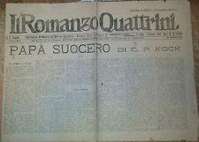 PAPà SUOCERO di C. P. Kock 31 agosto 1922 romanzo Quattrini serie A n 539