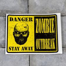 Warning Zombie Outbreak Sticker - Scrapbooking - Wall - iPad - MacBook - 5587