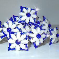 Forcine CRISTALLO MERAVIGLIOSE blu cerimonia di 2 cm N.1 forcina fermaglio D0622