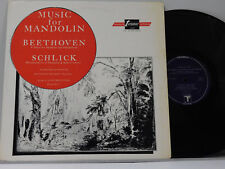 Beethoven / Schlick Lp MUSIC FOR MANDOLIN ~ Turnabout VG++