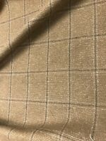 "Gold Gray Box Wool Fabric 58"" Width Sold By The Yard"