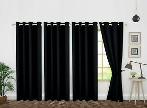 """Blackout Curtains Grommet Window 4 Panel Thermal Insulated (46"""" X 63""""/84""""/95"""")"""