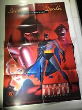 Batman: Mask Of Phantasm The Animated Movie Promotional Poster 1993 New Unused