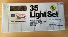 Miniature Light Set 35 Indoor Outdoor Multi Color Sears Christmas Tree Lights