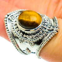 Large Tiger Eye 925 Sterling Silver Ring Size 7 Ana Co Jewelry R51734F