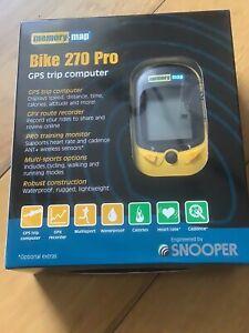 SNOOPER BIKE 270 PRO GPS TRIP COMPUTER - Multisport Memory-Map Bike computer