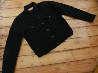 LEVI'S BLACK DENIM TRUCKER JACKET COLOUR:BLACK SIZE:XL