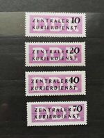 German Stamps -- Germany 1956 O33-36 DDR
