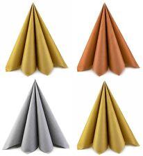 20 x kleine Papierservietten SILBER GOLD KUPFER 33 cm Servietten 3-lagig falten