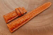 21mm/18mm Orange Genuine CROCODILE,ALLIGATOR Leather Deployment Strap forIWC
