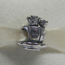 New Authentic Pandora Charm Enchanted Mouse 791107 Bead W Tag & Suede Pouch