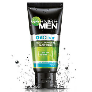 12x100 GRAM OF NEW GARNIER MEN OIL CLEAR FACE WASH WITH FREE WORLDWIDE SHIPPING