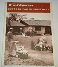 Gilson Lawn Garden Tractor & Equipment Sales Brochure Super 25 Pacer 939 940 941