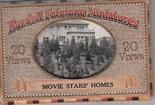 Bardell 1923 USA 20 miniature photographs Movie Stars Homes original pack, rare