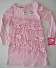 HELLO KITTY NWT Girls Ruffle Tiered Pink Dress Princess Crown Twins 6 Logo RV$40