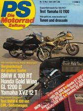 PS8405 + BMW K 100 RT vs. HONDA GL 1200 Gold Wing + YAMAHA XVZ 12 T + PS 5/1984